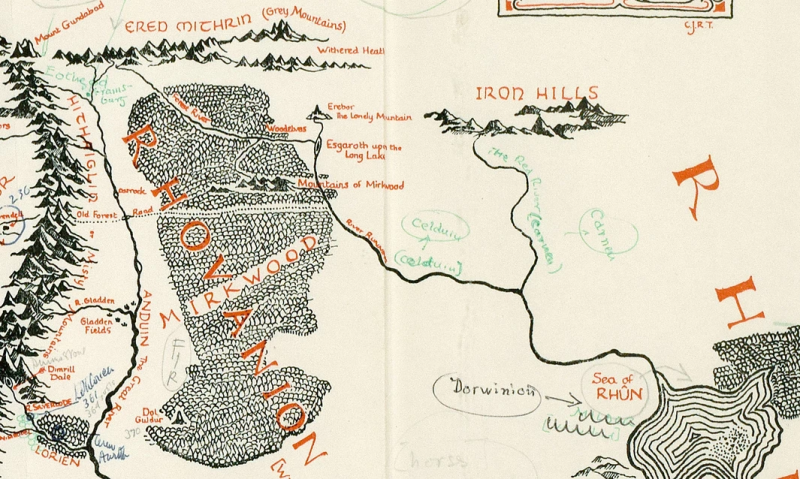 now everyone can see tolkiens annotated map of middle earth in all its glory