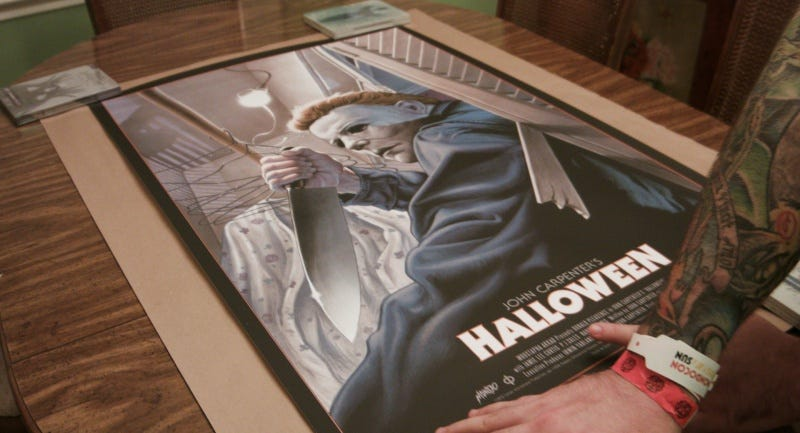 A still from 24x36: A Movie About Movie Posters of Jason Edmiston's Halloween poster. All Images: Fantastic Fest