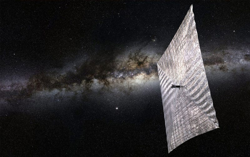 Illustration for article titled Carl Sagan's Solar Sail Is Ready For Its First Test Flight
