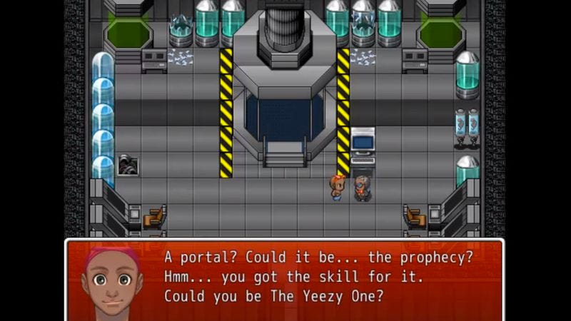 Illustration for article titled Kanye Quest 3030 makes Yeezy the star of his own sci-fi 2D RPG
