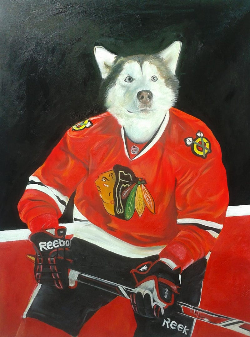 Illustration for article titled Here Are Some Portraits Of Pets As NHL Players