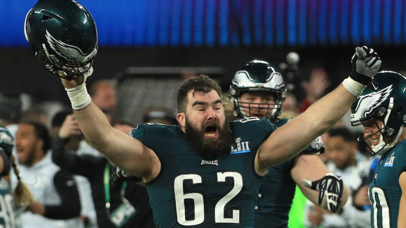 buy popular 452d7 42d4b Jason Kelce Says An Eagles Fan Poured Their Grandfather's ...