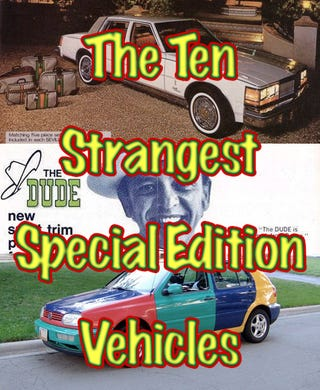 Illustration for article titled The Ten Strangest Special Edition Cars
