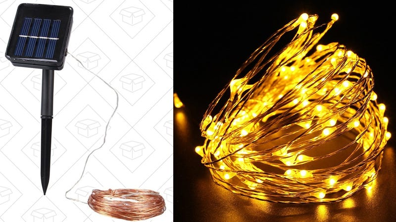 Solar Powered Copper Wire Lights, $10 with code WVC5HUJ6
