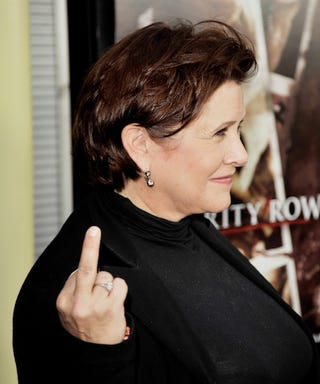"""Illustration for article titled Carrie Fisher: """"I'm Not As Cooperative As You Might Want A Woman To Be"""""""