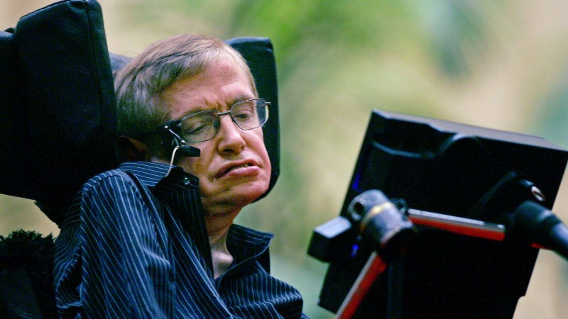 Illustration for article titled Stephen Hawking explica por qué cree que dios no existe en el último libro que publicó antes de morir