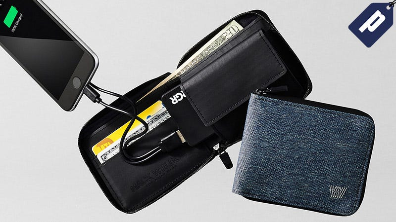 Illustration for article titled This Two-In-One Wallet And Phone Charger Is Equipped For Your Everyday (20% Off)