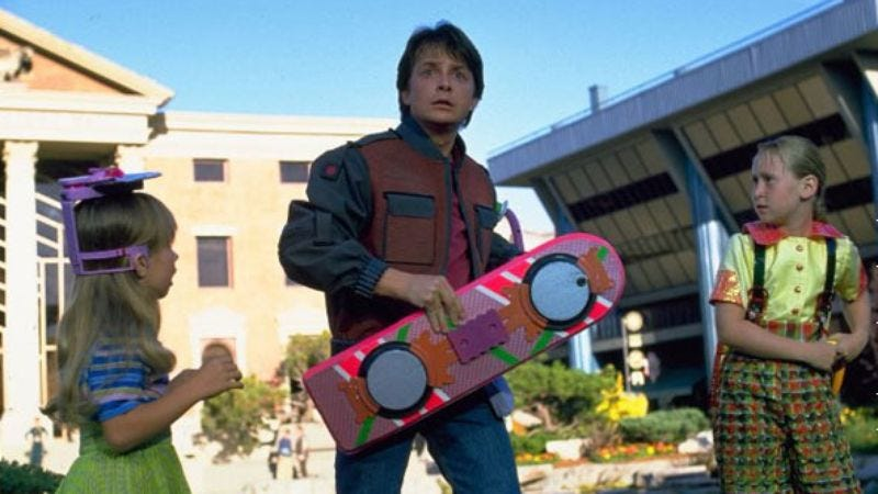 Illustration for article titled Celebrate the 30th anniversary of Back To The Future by riding a hoverboard