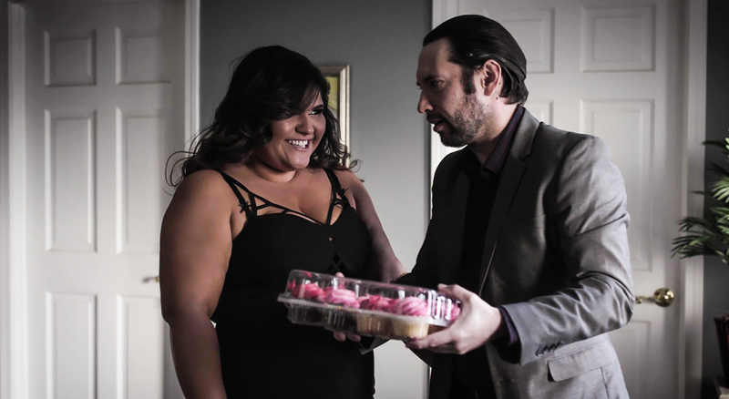 "Karla Lane and Tommy Pistol in ""The Weight of Infidelity."""