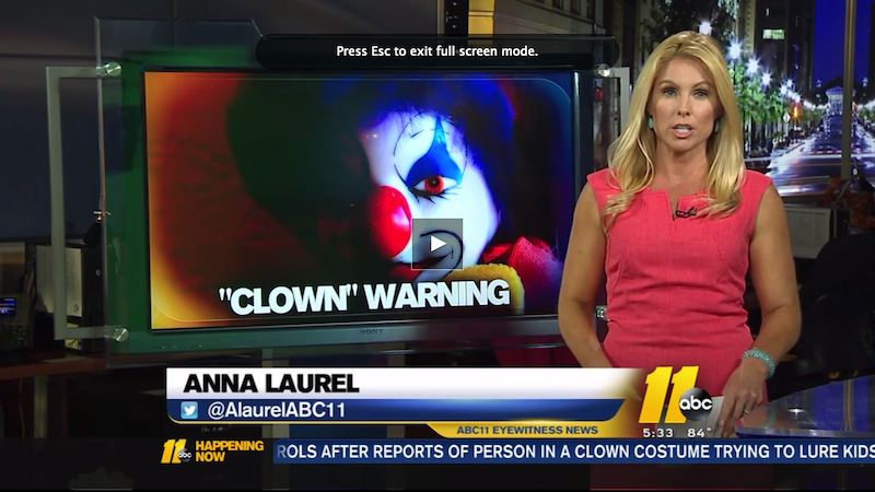 North Carolina Residents on Edge After Multiple Clown Sightings
