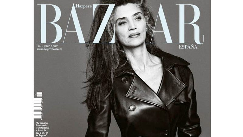 Illustration for article titled Harper's Bazaar Cover Dares To Show A 56-Year-Old Woman's Wrinkles