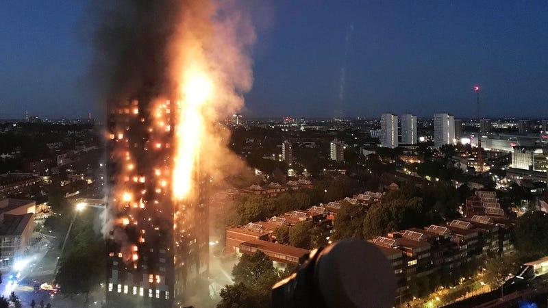 Building materials in London fire under scrutiny