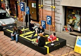 Illustration for article titled Person Parking: Single-Serving Parking Lot for Humans
