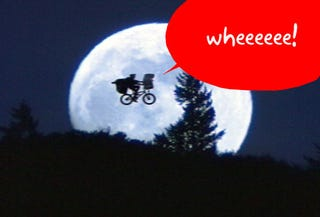 Illustration for article titled Google Earth Flying Bicycle Doesn't Include Basket, E.T.