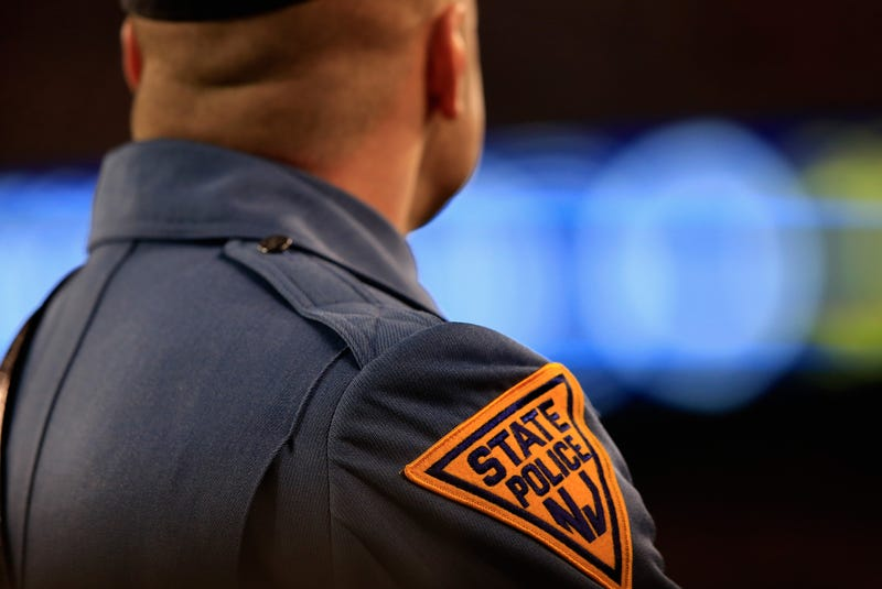 A New Jersey state police trooper looks on during Super Bowl XLVIII at MetLife Stadium on Feb. 2, 2014, in East Rutherford, N.J.Jamie Squire/Getty Images