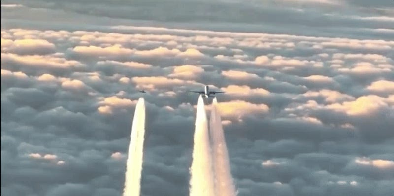 Watch German Typhoons Intercept A Boeing 777 That Lost Contact With The Airport