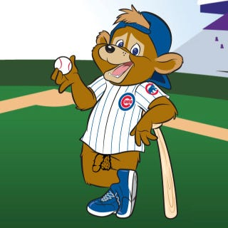 Illustration for article titled Contest: Do Something Horrible To The Cubs' New, Perverted Mascot [NSFW?]