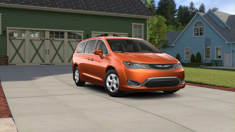 Illustration for article titled PSA: Apparently orange hybrid minivans are a thing that exists now.