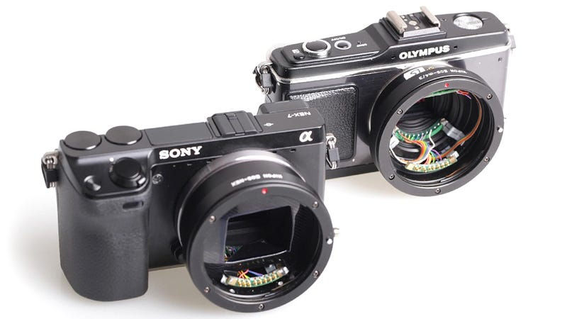 Illustration for article titled Adapter Lets Canon EF Lenses Play Nice with Micro Four Thirds (and Sony NEX Cameras)