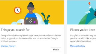 Illustration for article titled Google's New Account History Page Helps Further Control Your Privacy