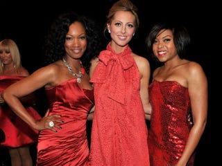 Garcelle Beauvais, Eva Amurri and Taraji P. Henson backstage (Getty Images)