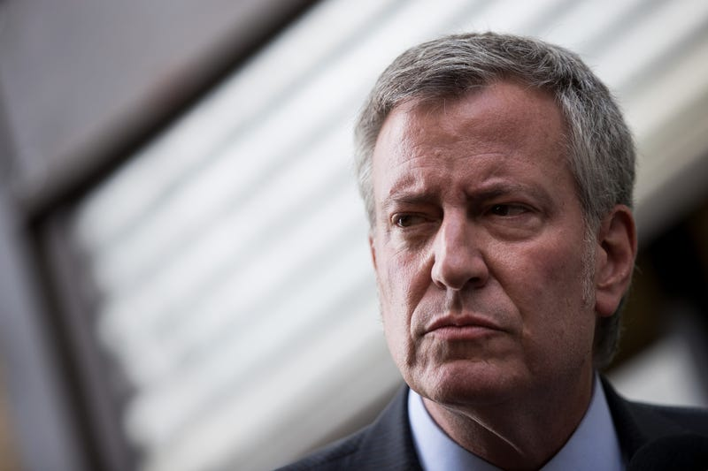 New York City mayor Bill de Blasio, at a press conference held last June