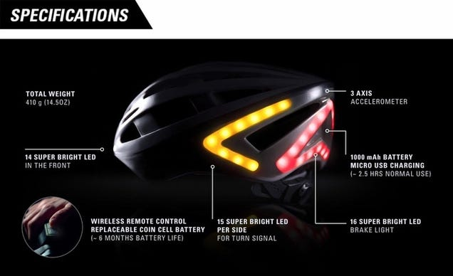 This LED Bike Helmet Gives You Working Brake Lights and Turn Signals