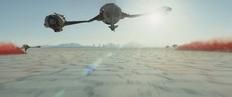 Crait, from The Last Jedi, is coming to Star Tours. Image: Disney