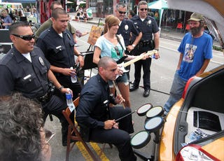 Illustration for article titled LAPD Employs Necessary Force On Rock Band