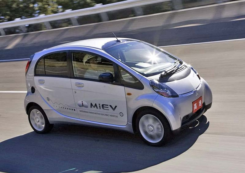 Illustration for article titled Production All-Electric Mitsubishi i-MiEV Gets Eye-Popping $47K Price