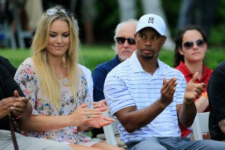Illustration for article titled Lindsey Vonn Is Just As Dumb And Humorless As Her Boyfriend Tiger Woods