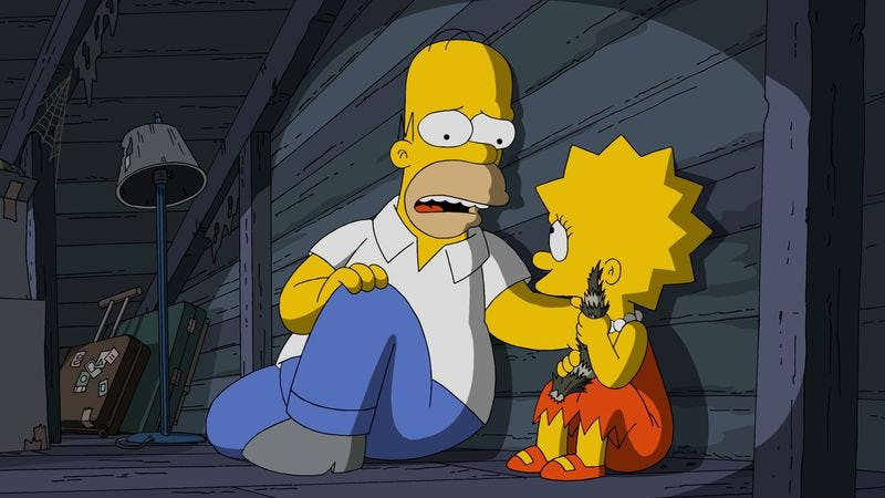 Illustration for article titled It's a scary, outstanding Simpsons Halloween episode—no, not that one