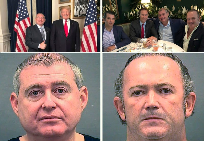 Top left: Lev Parnas and Donald Trump. Top right: Donald Trum Jr. Tommy Hicks, Jr., Lev Parnas and Igor Fruman. Bottom left: Lev Parnas. Bottom right: Igor Fruman