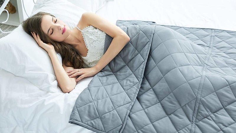 Click Me Weighted Blanket | $38 | Amazon | Promo Code CHWB50Y8