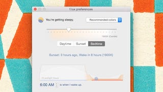 "Illustration for article titled F.lux for Mac Adds ""Backwards Alarm Clock"" to Show How Much Sleep You're Missing"