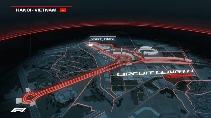 Illustration for article titled F1 Is Going to Vietnam in 2020 For a Street Circuit Race In Hanoi