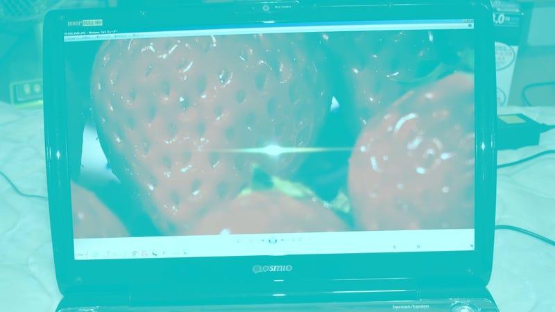 Esta foto no tiene píxeles rojos, es tu cerebro el que te hace ver las fresas de ese color