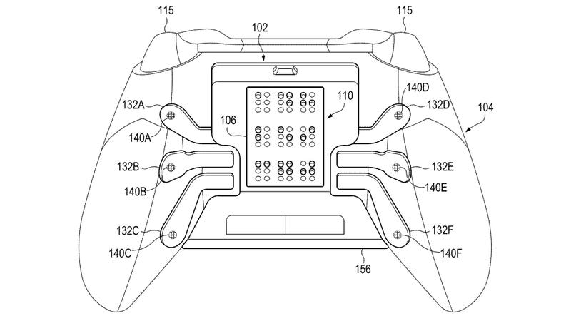 Illustration for article titled Microsoft Patent Imagines an Xbox Controller Customized for Gamers With Visual Impairment