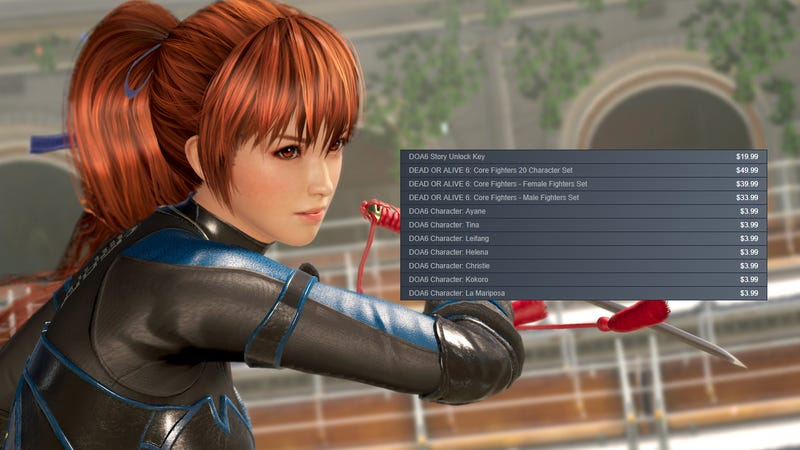 Illustration for article titled Play Dead Or Alive 6's Free Version But Don't Buy The Game A La Carte