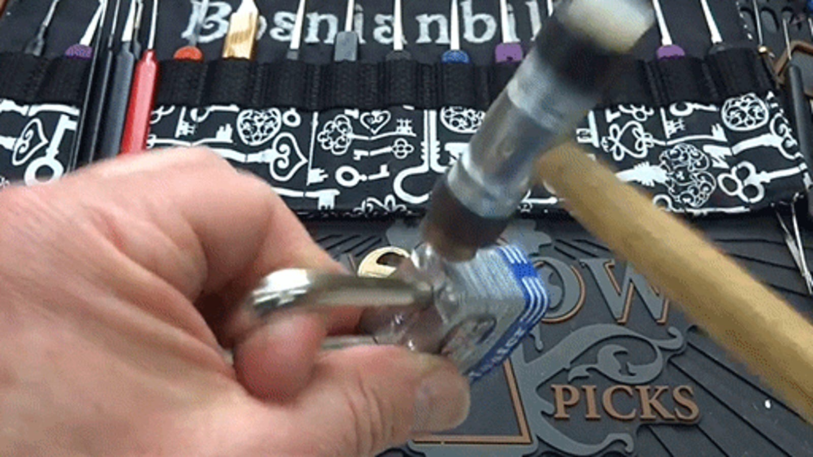 How to break open a Master Lock with just a small hammer