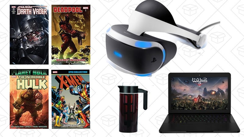 Illustration for article titled Tuesday's Top Deals: Marvel Comics, PlayStation VR Bundle, Gaming Gold Box and More
