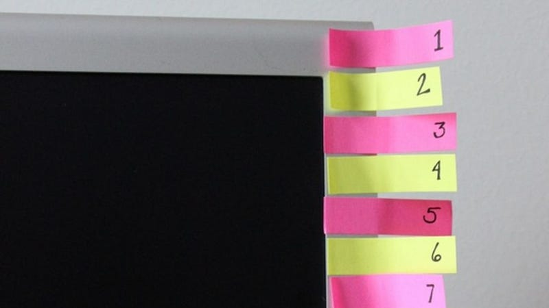 Illustration for article titled Make a Post-It Note Countdown to Stick to Your Habit Plan