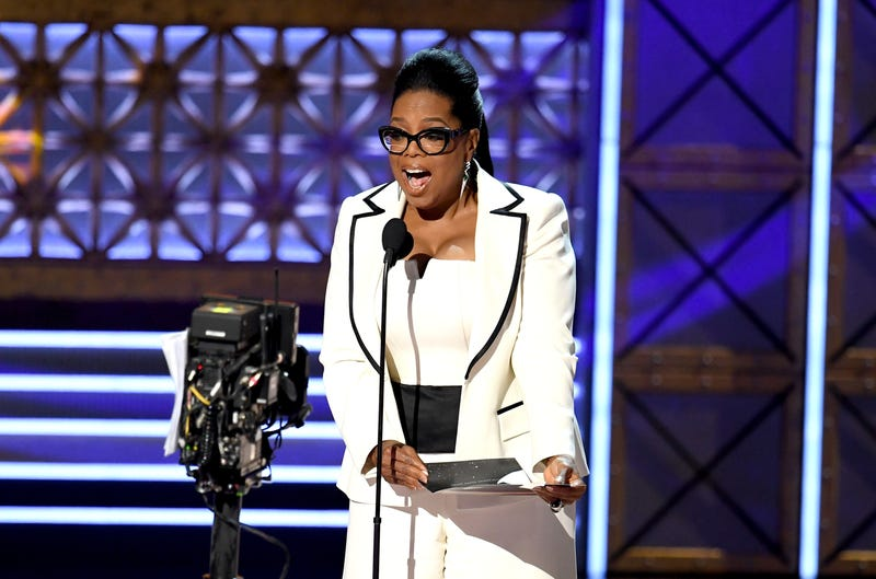 Oprah Winfrey speaks onstage during the 69th Annual Prime-Time Emmy Awards in Los Angeles on Sept. 17, 2017. (Kevin Winter/Getty Images)