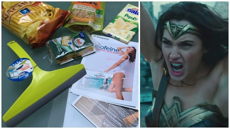 Illustration for article titled Un cine de Kinepolis regala productos de limpieza a las espectadoras durante un pase de Wonder Woman