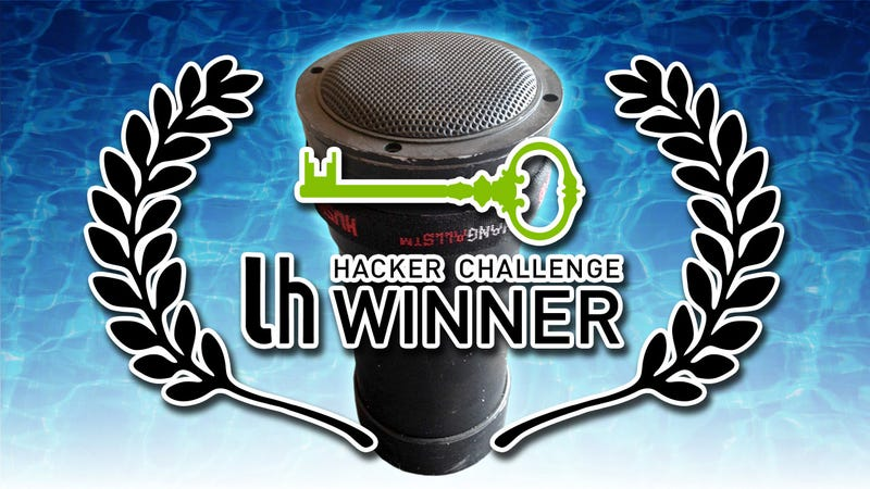 Illustration for article titled Hacker Challenge Winner: Build a Waterproof Canister Speaker