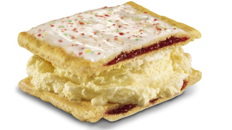 Illustration for article titled Oh, God: Carl's, Jr. Has Created a Pop Tart Ice Cream Sandwich