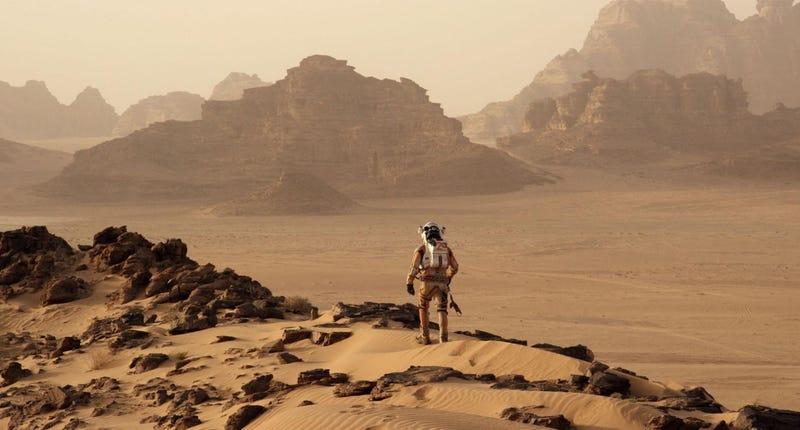 Matt Damon as Mark Watney in The Martian (2015).