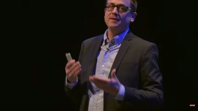 """Screenshot: """"Thought Leader Gives Talk That Will Inspire Your Thoughts"""" (YouTube)"""