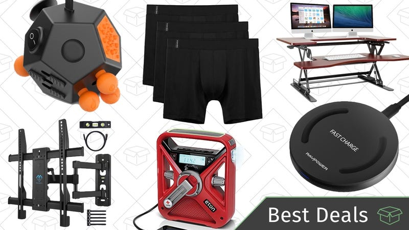 Illustration for article titled Saturday's Best Deals: Standing Desks, TV Mounts, Qi Charger, and More