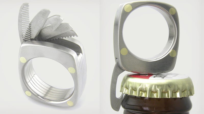 Illustration for article titled I Can't Think of a Better Wedding Ring Than This Cool Titanium Utility Ring